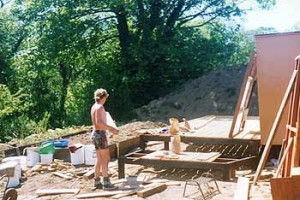 caravan porch construction